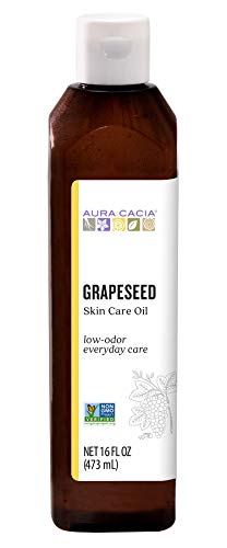 Aura Cacia Grapeseed Oil with Vitamin-E...