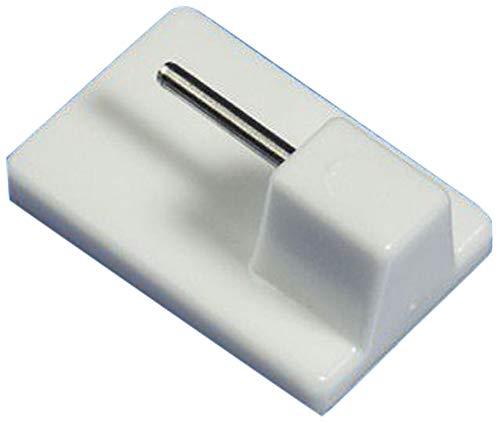 rewagi – Hochwertige Klebehaken für Cafehausstange, Scheibengardinenstange,Bistro-Gardinenstange – Farbe: weiß – 4, 8, 10, 20, 50, 100 Stück (4 Stück)