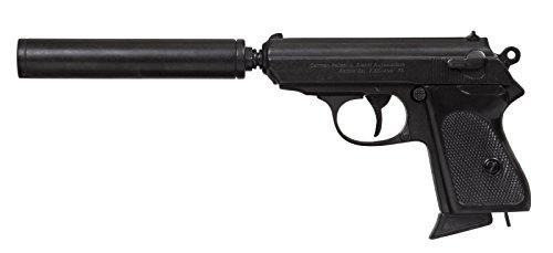 Denix Replik Pistole Englischer Geheimagent mit Schalldämpfer zerlegbar