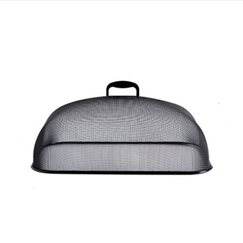 XYZMDJ cubierta de mesa de comedor de hierro forjado cubierta de comida para el hogar cubierta vegetal mesa de comedor anti-mosquitos y anti-moscas cubierta de alimentos
