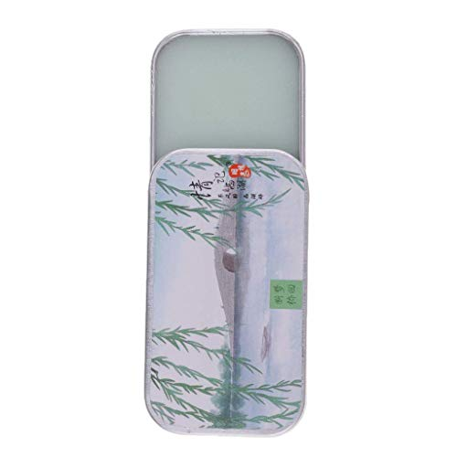 BestMall 1Pc 15g Natural Solid Perfume Alcohol-Free Body Musk Ointment in Aluminum Box- Green Tea/Black Tea/Jasmine/Lotus/Peony Fragrance - Jasmine, 15g