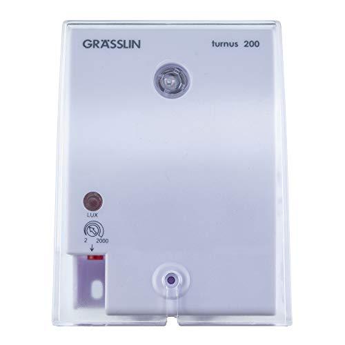 GRÄSSLIN - 18.17.0001.1 - Turnus 200 - Interruptor Crepuscular - 1 Canal - Rango de Ajuste de 2 a 2000 Lux - IP54 - Montaje en Superficie - AC 220-240 V 50-60 Hz