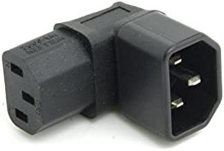CY VIEC Male C14 to 90 Degree Down Right Angled IEC Female C13 Power Extension Adapter