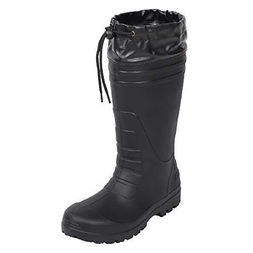 [コーコス信岡] 作業長靴 レインブーツ 超軽量 ハイブリッドEVA 男女兼用 ジプロア ブラック 26.5~27.0 cm 3E