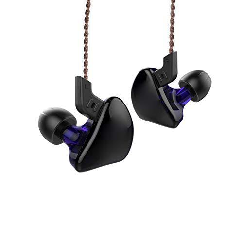 KYL Ohrhörer, Schallisolierende Kopfhörer Ohrstöpsel Mikrofon und Lautstärkeregler Sport, Flugreisen, Meditation (Color : Purple)
