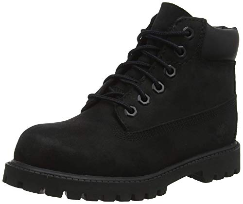 "Timberland Kids' 6"" Premium Waterproof-K, Black Nubuck, 7.0 M US Big Kid"