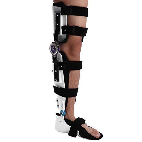 Rodillera,estabilizador de pierna completa ajustable Férula para órtesis de rodilla,estabilizador de soporte de órtesis para mujeres y hombres para Rehabilitación ortopédica,pierna izquierda (M)