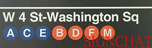SIGNCHAT New York City Subway Signs Brooklyn Bridge Barclays West 4Th S Twashington Sq Metal Street Sign 4x16 inch