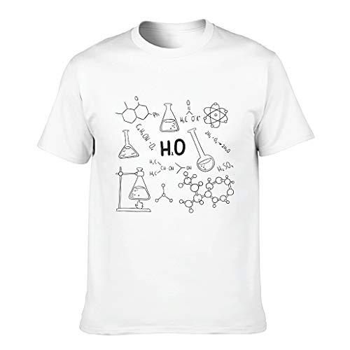 Camiseta de algodón con fórmula química para hombre, diseño de la ciencia blanco XL