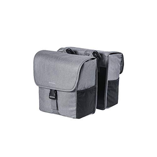 Basil Unisex– Erwachsene Go Doppelpacktasche, Grey Melee, 33 cm x 16 cm x 38 cm