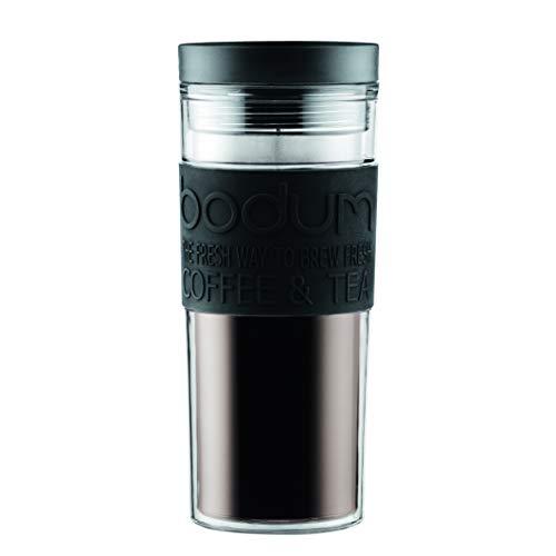 Bodum Travel Mug, Doppelwandig, Kunststoff, 0.45 l, Schwarz