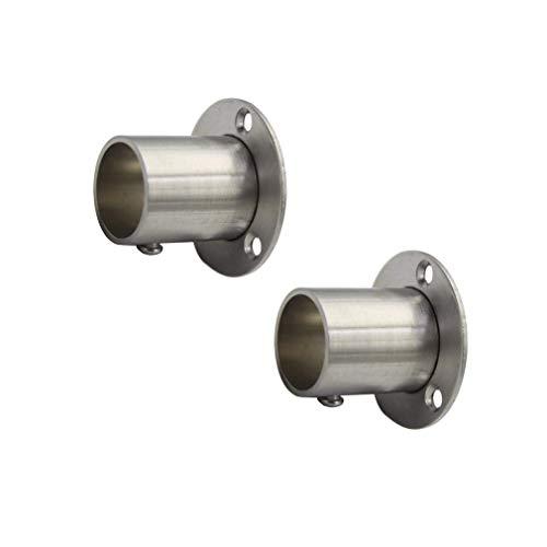 Rzdeal Gardinenstangen-Halterung, Halterung für Kleiderstangen, für Gardinen, Kleiderschrank, Edelstahl, 25 mm, 2 Stück