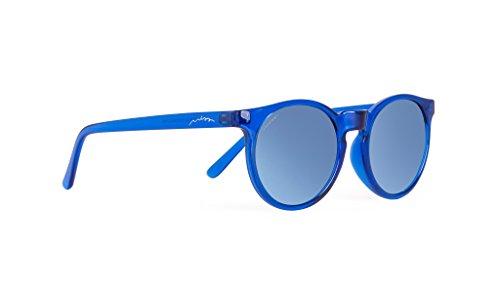 Miss Hamptons ALCIDE Gafas De Sol, MONTURA Azul LENTE Blue Chrome, Talla única Unisex