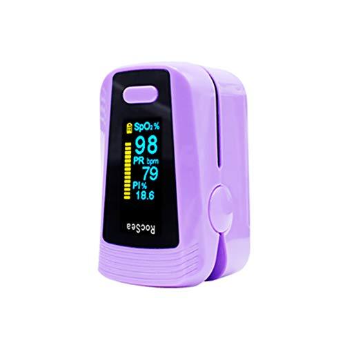 Finger-Klipp-Oximeter, Finger-Pulsoximeter, Pulsoximetrie-Puls-Monitor Lila, Zu Überwachen Blut-Sauerstoff Geeignet Für Kinder Oder Erwachsene