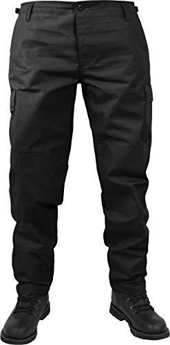 normani US Herren BDU Feldhose aus robustem Ripstop Material Farbe Schwarz Größe L