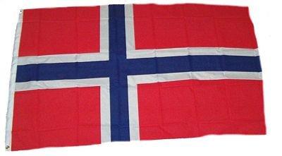 Vlaggenking Noorwegen vlag/vlag, meerkleurig, 150 x 90 x 1 cm, 17005