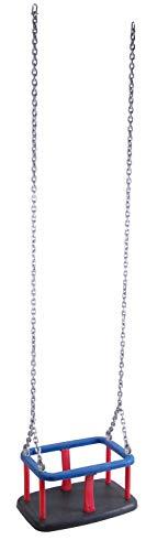 OTITU Just Fun Seggiolino Altalena con Set di Catene in Acciaio zincato 6mm – 1,8 m, per Bambini, Uso pubblico – Nero