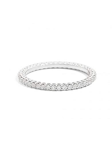 Anello veretta Recarlo in oro bianco 18 kt carati con diamanti
