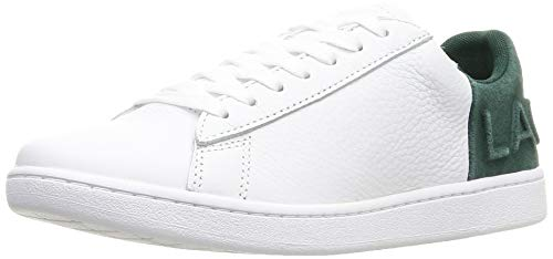 Lacoste Damen Carnaby Evo 419 2 SFA Sneaker, Weiß (Wht/Dk Grn 1r5), 41 EU
