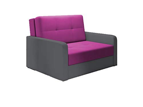 Idzczak Meble Sofa Otto II Modern Schlafsofa mit Bettkasten Couch Schlaffunktion Polstermöbel Wohnzimmer (Shaggy 14 + Soft 29)