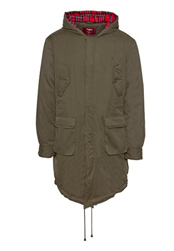 Merc of London Tobias Parka Abrigo, Vert (Combat Green), XL para Hombre