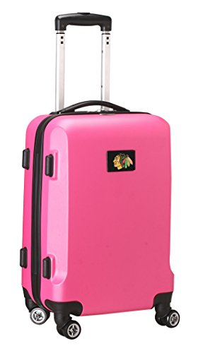 Denco NHL Chicago Blackhawks Carry-On Hardcase Luggage Spinner, Pink