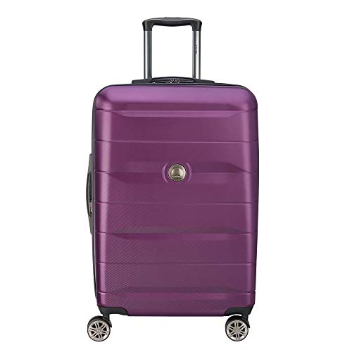 DELSEY Paris Comete 2.0 Hardside Expandable Luggage with Spinner Wheels, Purple, Checked-Medium 24 Inch