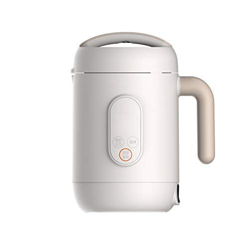 BMMMZ Soyamilchhersteller Haushalts Mini Cooker Multi Funktionen Lebensmittel Blender Convenient Hot Pot Food Mixer (Color : White)