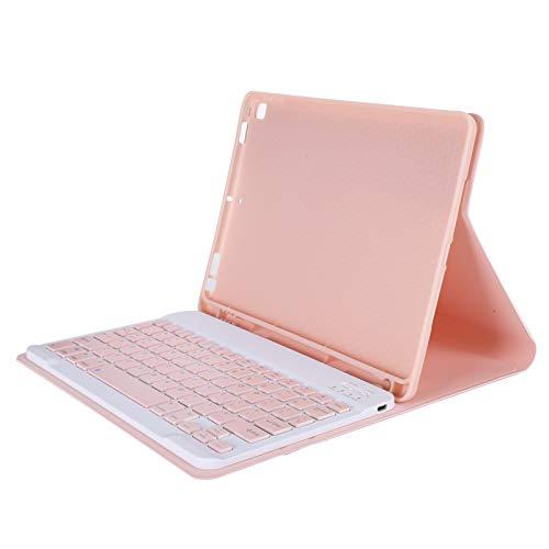 eboxer-1 Teclado Bluetooth con Funda para iPad Air3 / Pro 10.5/10.2 (2019/2020), Funda con Teclado inalámbrico Ajustable Inteligente con Soporte y Ranura para lápiz(Rosado)