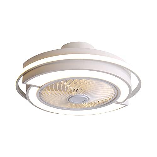 Ventilateur de plafond, plafonnier à LED avec éclairage et télécommande, silencieux, 3 vitesses du vent réglables, 3 lumières à intensité variable, ventilateur à plafond pour salon, chambre à coucher