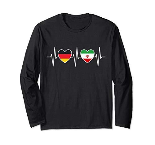 Deutschland und Iran Deutsch Iranisch Fahne Flaggen Langarmshirt