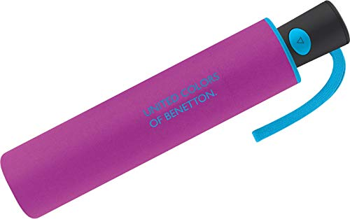 Benetton Umbrella Pocket Umbrella Automatic Umbrella Mini AC (Purple)