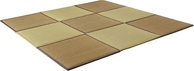 イケヒコ 置き畳 ユニット畳 低反発 『タイド』 約82×82cm 9枚組(ブラウン5枚+ベージュ4枚)