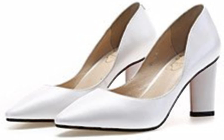 LvYuan-ggx Da donna Tac  Con cinghia Pelle Estate Casual Con cinghia Bianco Nero 5-7 cm, bianca, us6.5-7   eu37   uk4.5-5   cn37