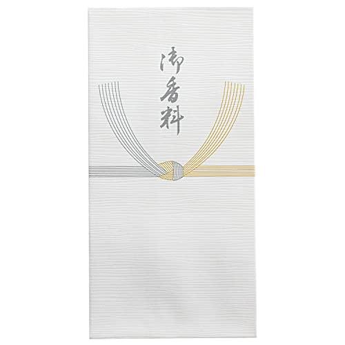 スズキ紙工 不祝儀袋 クレープ 新万型 黄水引 御香料 5枚入×20パック ス-2916