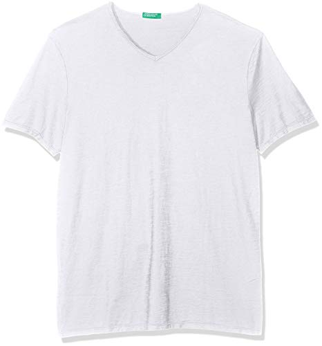 United Colors of Benetton Herren T-Shirt Pullover, Weiß (Bianco 101), X-Large