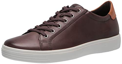 ECCO Men's Soft Classic Sneaker, COFFEE/LION, 9 M US