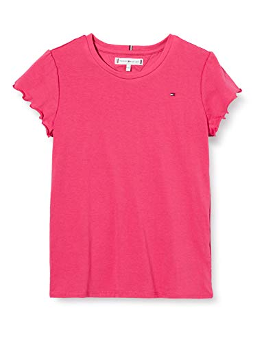 Tommy Hilfiger Essential Ruffle Sleeve Top S/s Camiseta, Rojo (Blush Red Xif), 3-4 años (Talla del...