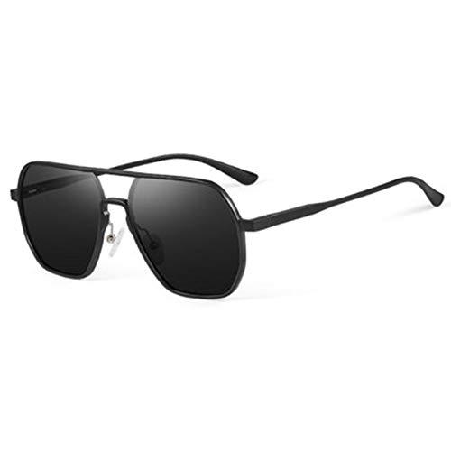 wgg De Venta Libre Gafas de Sol de los Hombres Gafas polarizadas Anti-Ultravioleta Lentes de Nylon de Alta definición de Aluminio-magnesio Marcos de Primavera bisagras Vasos Ligeros