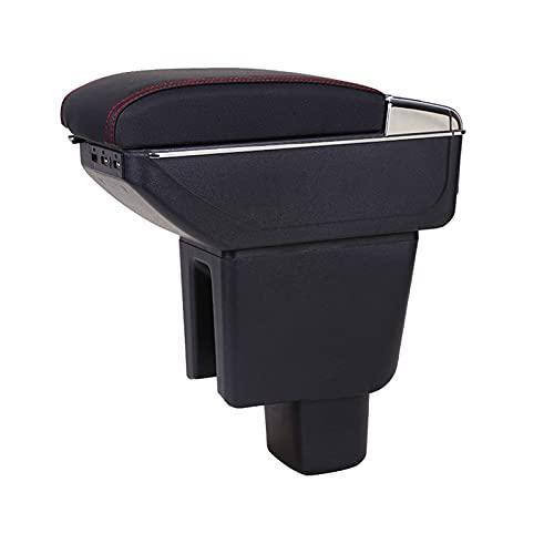 ZYYCJ Caja De Reposabrazos para Honda Mobilio BRV Caja De Reposabrazos Caja De Almacenamiento De Contenido De Tienda Central con Portavasos Cenicero USB
