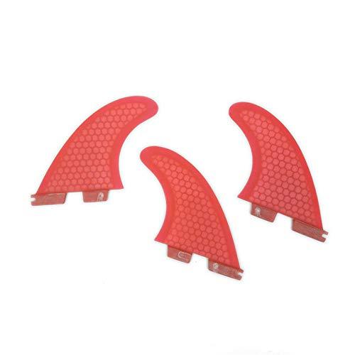 UPSURF Tabla de Surf 3Aletas FCS II G3/G5/G7 Surf Tener Panal+Fibra de Vidrio Aleta (Rojo G5)