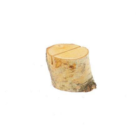Hofmeister Houten tafel kaartenhouder boomstam, plat van berk 7 cm