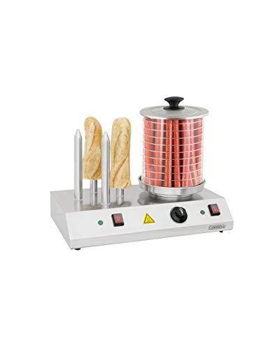 Casselin CMH1 - Appareil à hot-dog électrique 4 Plots