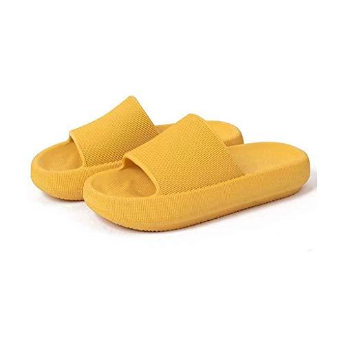 Sandalias de ducha unisex con suela gruesa, antideslizantes para playa, piscina, puntera abierta, estilo zapatillas para exteriores para hombres y mujeres