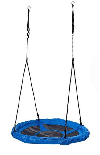Children's Garden Swing, Nest Round Children's Outdoor Swing, Adjustable Height, Oxford Cloth, for Up to 3 Children, Blue