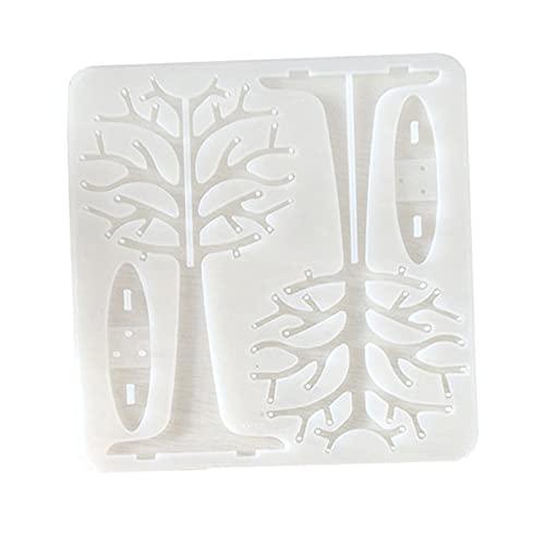 harayaa Molde de Silicona para árbol de Navidad, Estante de joyería de Bricolaje, Moldeado de Resina epoxi, Adornos de Cristal, moldes, Manualidades,
