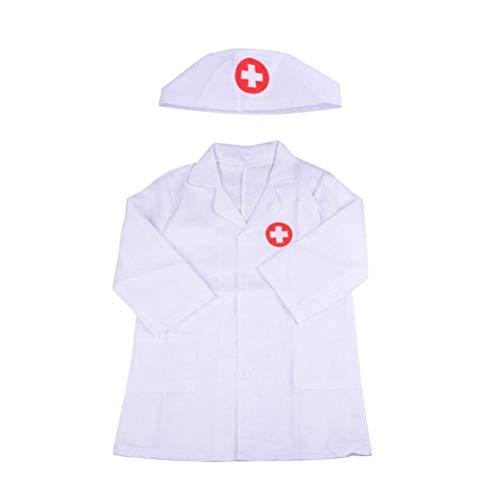 Toyvian Disfraz de médico de manga larga para niños, bata...