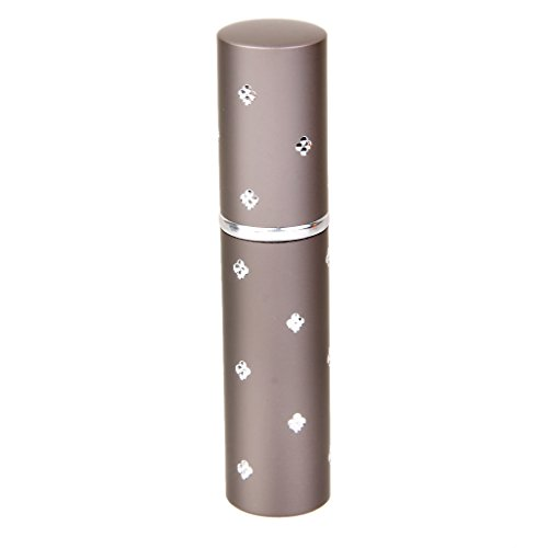 Mini Atomiseur de Parfum Vaporisateur Rechargeable Bouteille Vide en Alliage 6ml pour Voyage - Café