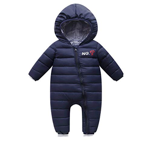 Newborn Baby Winter Hoodie Infant Baby Climbing Spring Outwear Rompers 3M-12M Boy Jumpsuit Navy 6M