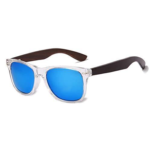 NJJX Gafas De Sol Polarizadas De Madera Hombres Mujeres Gafas De Sol Cuadradas Gafas De Sol Con Revestimiento Vintage Gafas Retro Sombras 05